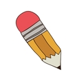 silhouette colorful of small pencil with eraser vector image vector image