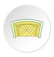Soccer goal icon cartoon style vector image vector image
