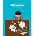 Spreadsheet design vector image
