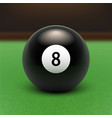 stock raster eight ball 3d vector image vector image