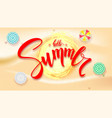 summer beach seashore for touristic events travel vector image vector image