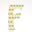 the letter f alphabet made fennel vector image vector image
