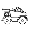 Tipper icon outline style vector image vector image