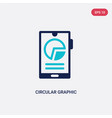 two color circular graphic mobile icon from vector image