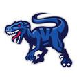 velociraptor mascot vector image
