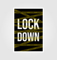 vintage lock down poster isolation with police vector image