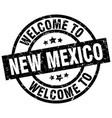 welcome to new mexico black stamp vector image vector image