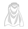 white colorful cloak isolated on white background vector image