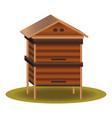 wood beehive icon cartoon style