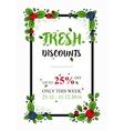 Fresh Discounts percent off banner vector image