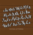 black and white lettering abc painted letters vector image