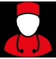 Doctor Flat Symbol vector image