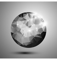 Abstract black and white shiny polygonal sphere vector image vector image