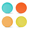 abstract empty colorful circle shapes set vector image