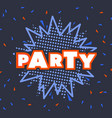 abstract invitation and party festival vector image