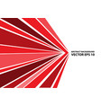 abstract red arrow speed line on white vector image vector image