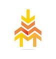 arrow letter line design symbols vector image