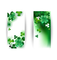 Banners with Green Shamrock vector image