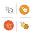Basketball ball icons vector image