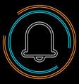 bell icon alarm alert symbol vector image vector image