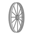 Bicycle wheel icon gray monochrome style vector image vector image