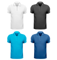 Black and white and color men t- shirts Design vector image