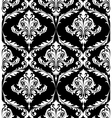 Black and white vintage damask pattern vector image vector image