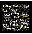 Black Friday Calligraphy Design vector image vector image