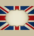 blank frame on united kingdom insignia vector image vector image