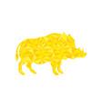 boar gold vector image vector image