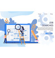 business manager job search recruit marketplace vector image