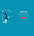 business woman character an analysis concept vector image vector image