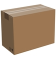 cardboard box isolated vector image vector image