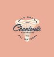 chanterelle mushroom logo vector image vector image