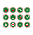 christmas stories icons story xmas vector image