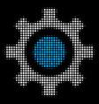 cogwheel halftone icon vector image