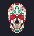 color of a sugar skull the holiday vector image vector image