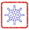 compress arrows grunge framed icon vector image vector image