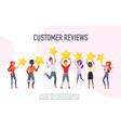 customer reviews flat banner template vector image
