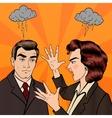 Dispute Between Man and Woman Pop Art vector image