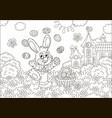easter bunny juggler vector image