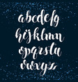 English alphabet modern brushed lettering