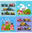 Farm Orthogonal Flat 2x2 Icons Set vector image vector image
