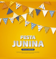 festa junina holiday design paper cut style vector image
