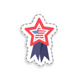 flag placed in star shape vector image vector image