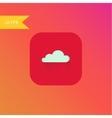 flat design cloud icon element vector image