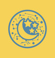 flat icon moon and stars vector image vector image