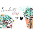 hand drawn abstract creative header with vector image vector image