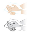 hand sanitization vector image vector image
