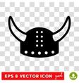 Horned Helmet Eps Icon vector image vector image
